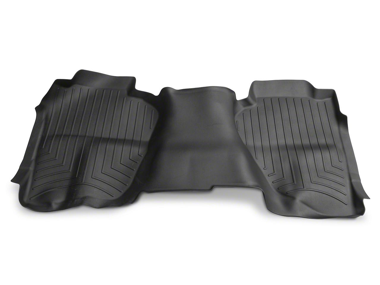 Weathertech DigitalFit Rear Floor Liner - Black (14-18 Silverado 1500 Double Cab, Crew Cab)
