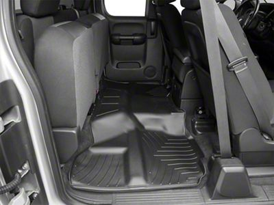 Weathertech DigitalFit Rear Floor Liner - Black (07-13 Silverado 1500 Crew Cab)