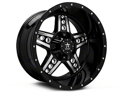 RBP 90R Colt Gloss Black Machined 6-Lug Wheel - 20x10 (99-18 Silverado 1500)