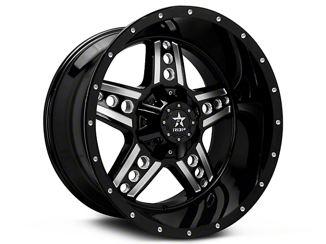 RBP 90R Colt Gloss Black Machined 6-Lug Wheel - 20x9 (99-18 Silverado 1500)