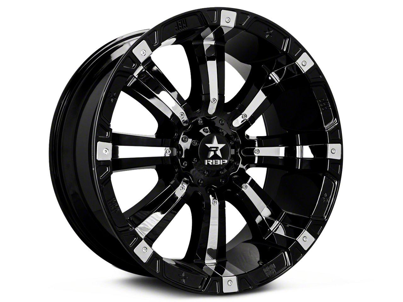 rbp silverado 94r black w chrome inserts 6 lug wheel 17x9 s101402 Chevy 2500HD Tires rbp 94r black w chrome inserts 6 lug wheel 17x9 99