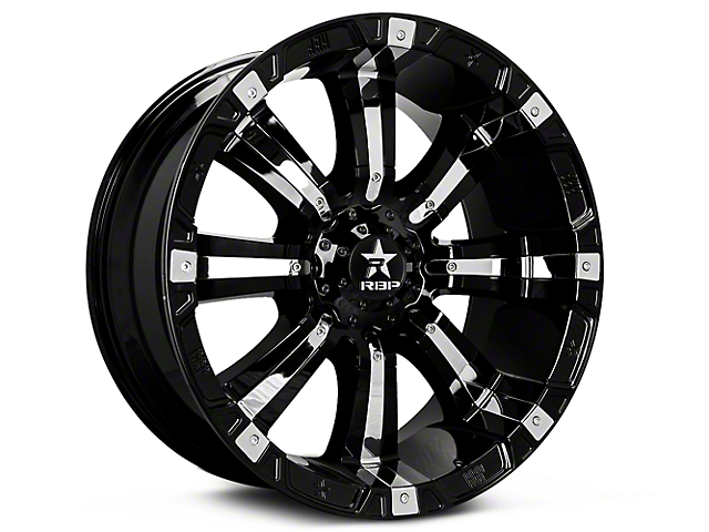 RBP 94R Black w/ Chrome Inserts 6-Lug Wheel - 17x9 (99-18 Silverado 1500)