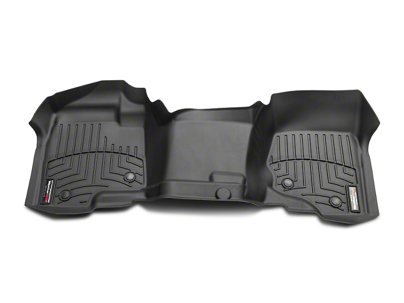 Weathertech DigitalFit Front Over the Hump & Rear Floor Liners - Black (07-13 Silverado 1500 Extended Cab, Crew Cab, Excluding Hybrid)