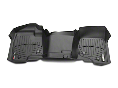 Weathertech DigitalFit Front & Rear Floor Liners - Over the Hump - Black (07-13 Silverado 1500 Extended Cab, Crew Cab, Excluding Hybrid)
