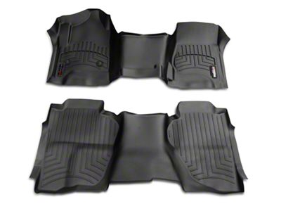 Weathertech DigitalFit Front Over the Hump & Rear Floor Liners - Black (14-18 Silverado 1500 Crew Cab)