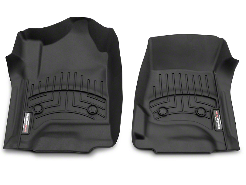 Weathertech DigitalFit Front & Rear Floor Liners - Black (14-18 Silverado 1500 Double Cab, Crew Cab)