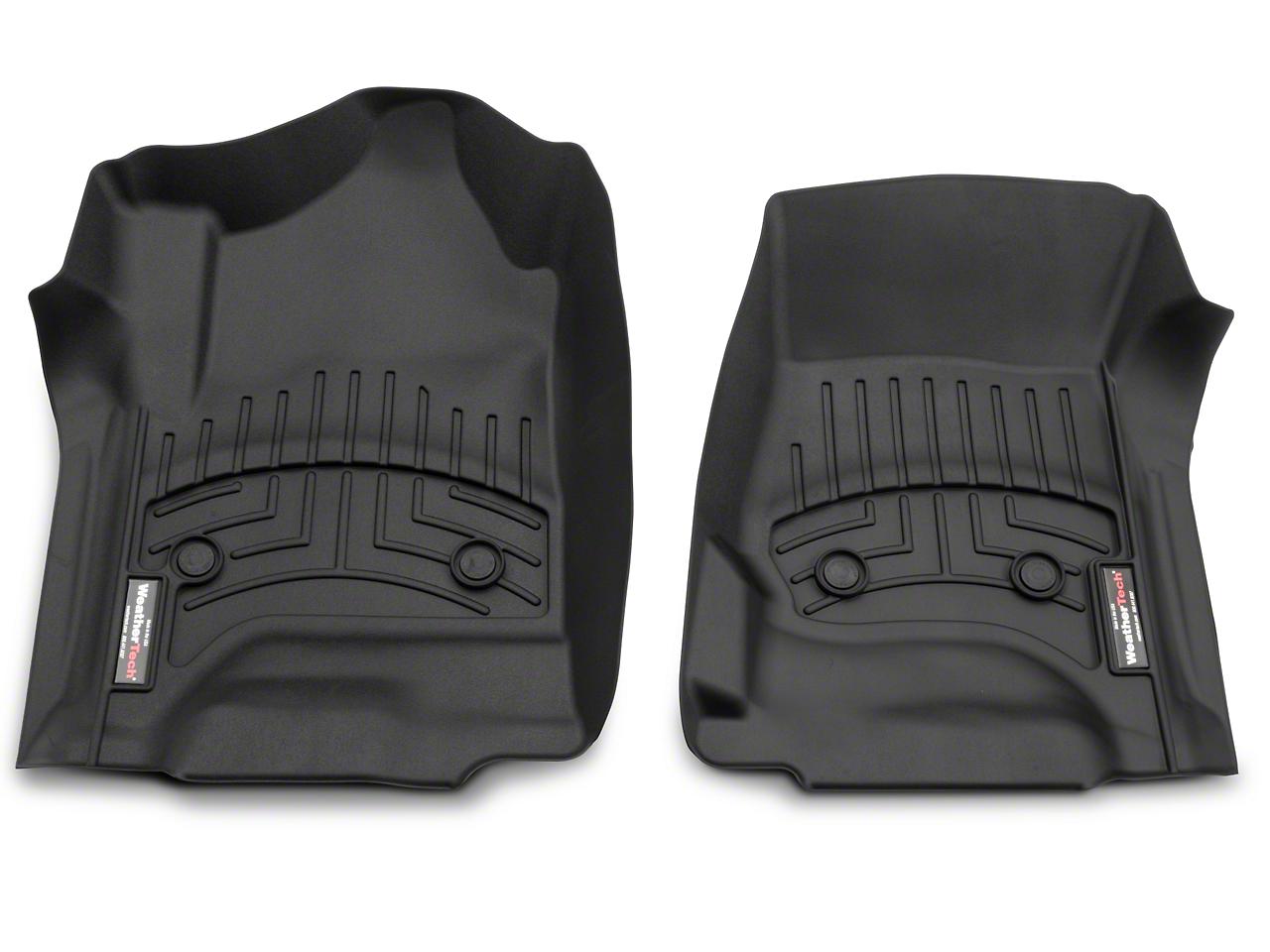 Weathertech DigitalFit Front & Rear Floor Mats - Black (14-18 Silverado 1500 Double Cab, Crew Cab)