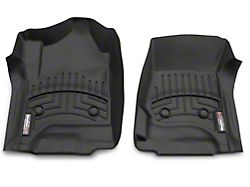 Weathertech DigitalFit Front & Rear Floor Liners - Black (14-18 Silverado 1500 Crew Cab w/o Floor Shifter)