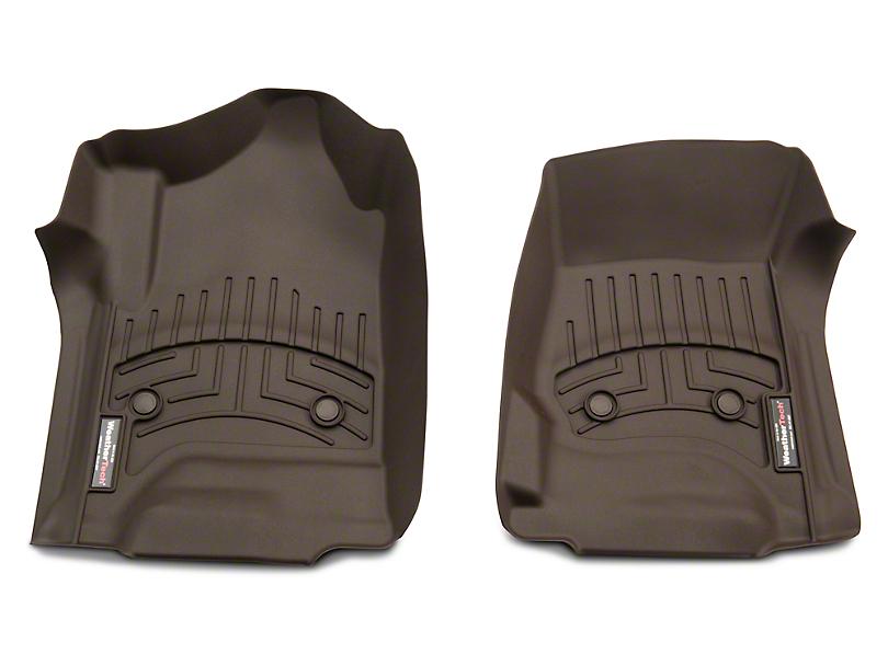 Weathertech DigitalFit Front & Rear Floor Liners - Cocoa (14-18 Silverado 1500 Double Cab, Crew Cab)