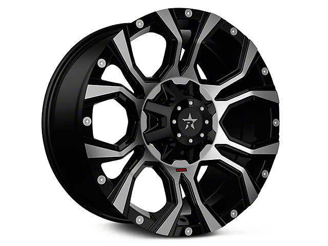 RBP 64R Widow Gloss Black Machined 6-Lug Wheel - 20x10 (99-18 Silverado 1500)