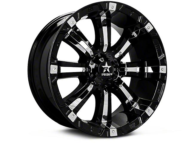 RBP 94R Black w/ Chrome Inserts 6-Lug Wheel; 18x9 (07-18 Silverado 1500)