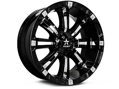 RBP 94R Black w/ Chrome Inserts 6-Lug Wheel - 18x9 (07-18 Silverado 1500)