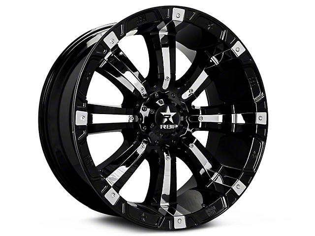 RBP 94R Black w/ Chrome Inserts 6-Lug Wheel; 20x9 (07-18 Silverado 1500)