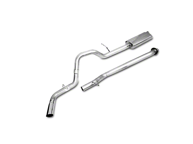 CGS Motorsports Aluminized Single Exhaust System; Side Exit (2009 6.0L Silverado 1500, Excluding Hybrid)