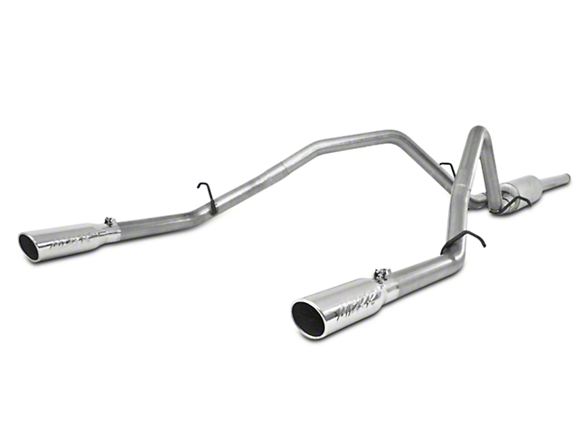 MBRP 2.50-Inch Installer Series Dual Exhaust System with Polished Tips; Rear Exit (09-13 4.8L Silverado 1500)