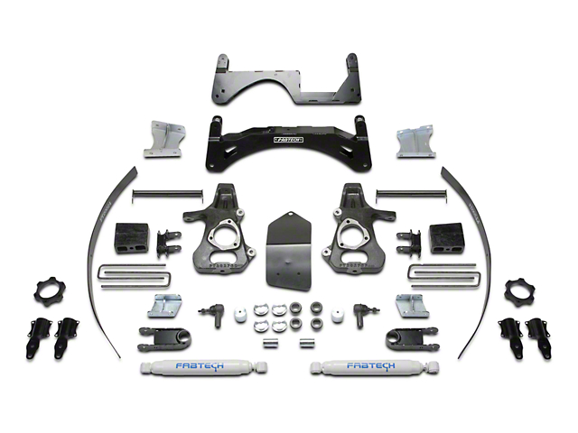 Fabtech 6 in. Basic Lift System w/ Shocks (14-18 2WD/4WD Silverado 1500 Double Cab, Crew Cab)