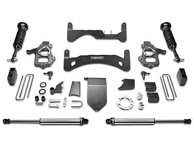 Fabtech 6 in. Gen II Performance Lift System w/ Dirt Logic 2.5 Coilovers & Shocks (14-18 2WD/4WD Silverado 1500 Double Cab, Crew Cab)