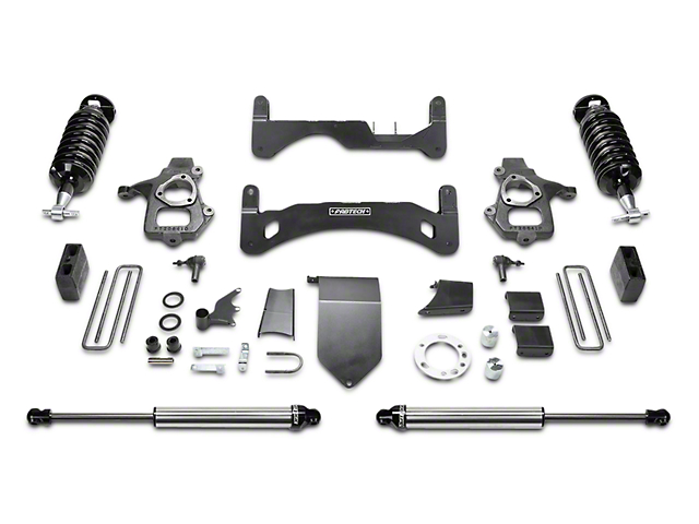 Fabtech 6-Inch GEN II Performance Suspension Lift Kit with Dirt Logic 4.0 Coil-Overs and Shocks (14-18 2WD/4WD Silverado 1500 Double Cab, Crew Cab)