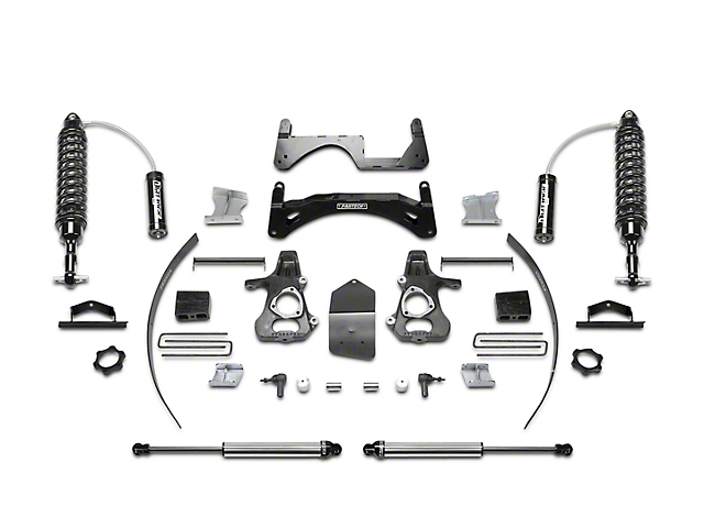 Fabtech 6-Inch Performance Suspension Lift Kit with Dirt Logic 2.5 Coil-Over Reservoirs and Shocks (14-18 2WD/4WD Silverado 1500 Double Cab, Crew Cab)