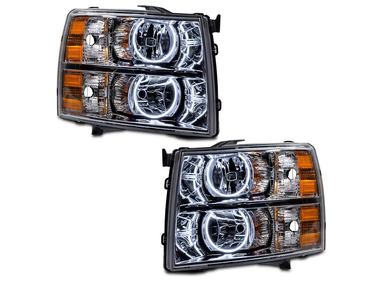 Chrome OE Style Headlights w/ Round Ring CCFL Halos (07-13 Silverado 1500)