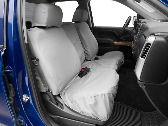 Covercraft SeatSaver Front Row Seat Covers - Polycotton Gray (07-18 Silverado 1500 w/ Bench Seat)