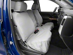 Covercraft SeatSaver Front Row Seat Covers - Polycotton Gray (14-18 w/ Fold Down Console w/ Lid/Cupholder, Seat Airbag and w/ Center Seat Storage)