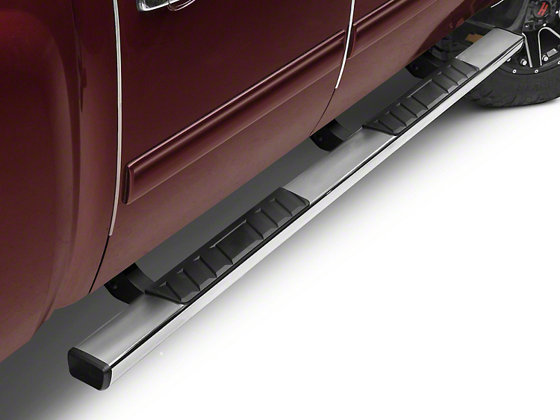 Barricade T4 Side Step Bars - Polished Stainless - Rocker Panel Mount (07-13 Silverado 1500 Extended Cab, Crew Cab)