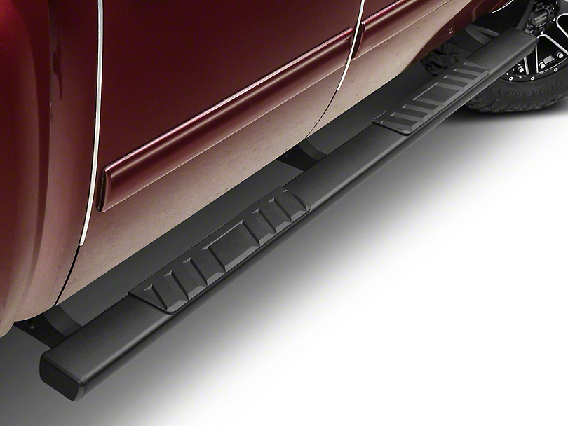 Barricade T4 Body Mount Side Step Bars - Black (07-13 Silverado 1500 Extended Cab, Crew Cab)