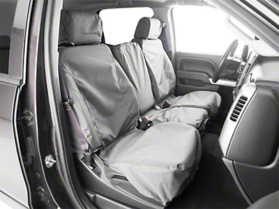 Covercraft SeatSaver Waterproof Front Row Seat Covers - Gray (07-18 Silverado 1500 w/ Bench Seat)