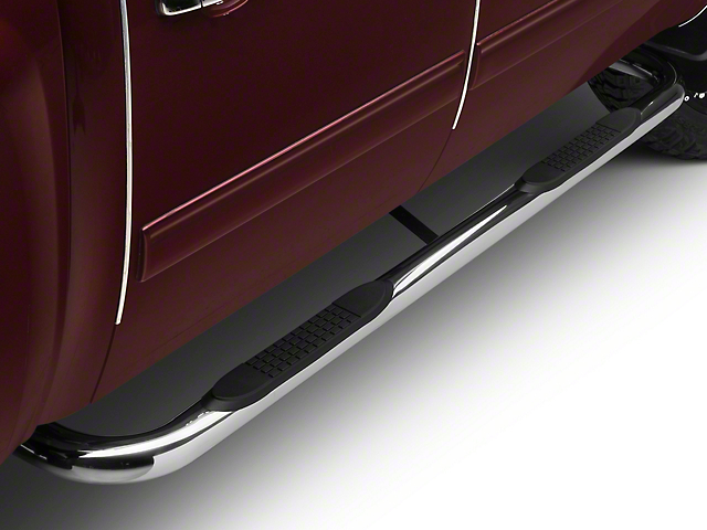 Barricade 3 in. Body Mount Side Step Bars - Stainless Steel (99-13 Silverado 1500)