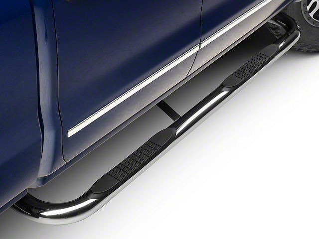 Barricade 3 in. Side Step Bars - Polished Stainless - Body Mount (14-18 Silverado 1500)