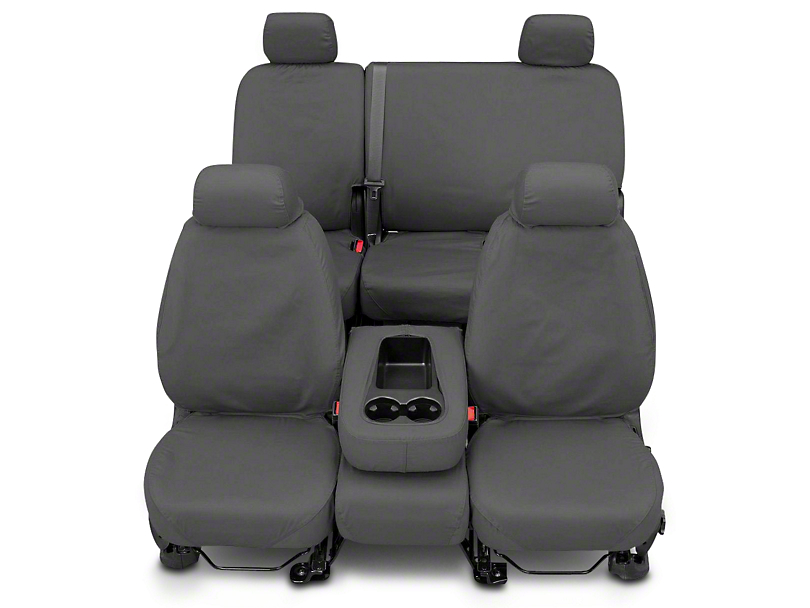 Covercraft Second Row SeatSaver Seat Cover - Polycotton Gray (07-13 Silverado 1500 Extended Cab, Crew Cab)