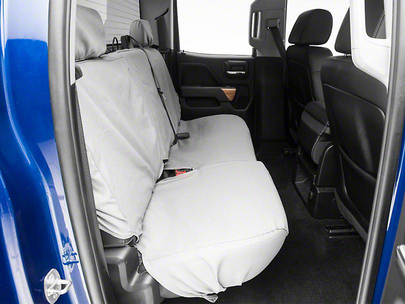 Covercraft SeatSaver Second Row Seat Cover - Polycotton Gray (14-18 Silverado 1500 Double Cab, Crew Cab)