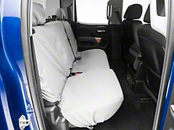Covercraft SeatSaver Second Row Seat Cover - Polycotton Gray (14-18 Silverado 1500 Crew Cab w/ Fold Down Armrest)