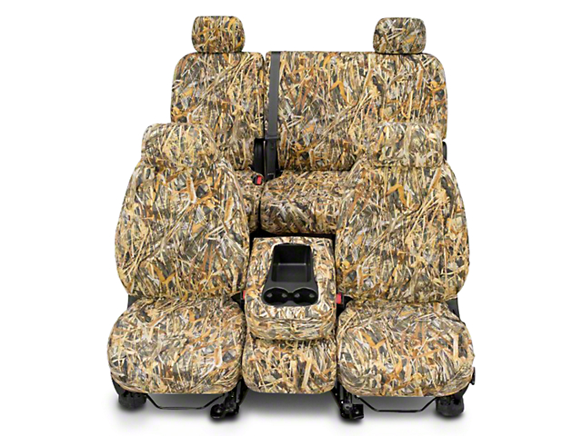 Covercraft Second Row SeatSaver Seat Cover; True Timber Flooded Timber (14-18 Double Cab, Crew Cab)