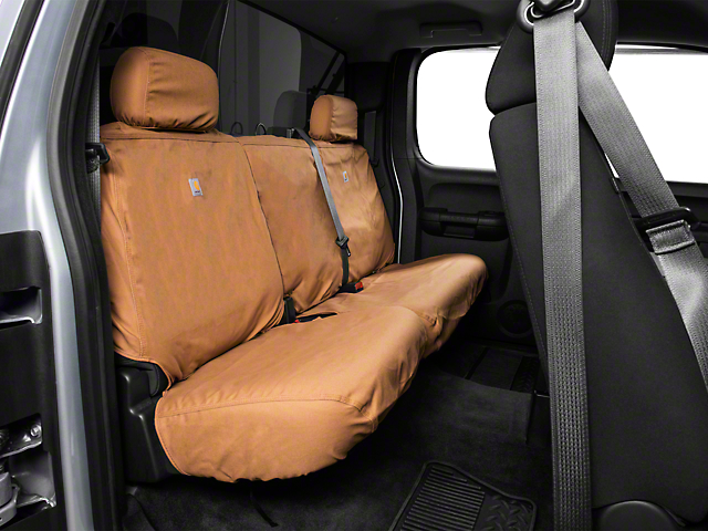 Covercraft Carhartt SeatSaver Second Row Seat Cover - Brown (07-13 Silverado 1500 Extended Cab, Crew Cab)
