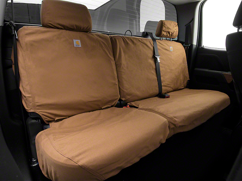 Covercraft Second Row SeatSavers Seat Cover - Carhartt Brown (14-18 Silverado 1500 Double Cab, Crew Cab)