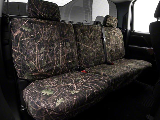 Covercraft Second Row SeatSaver Seat Cover; True Timber Conceal Green Camo (14-18 Silverado 1500 Double Cab, Crew Cab)