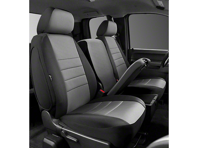 Fia Custom Fit Neoprene Front Seat Covers - Gray (07-13 Silverado 1500 w/ Bench Seat)