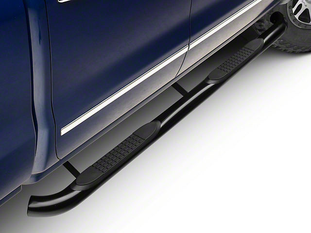 Barricade 3 in. Rocker Mount Side Step Bars - Black (14-18 Silverado 1500)