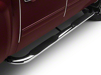 Barricade 4 in. Oval Bent Side Step Bars - Polished Stainless - Body Mount (99-13 Silverado 1500)