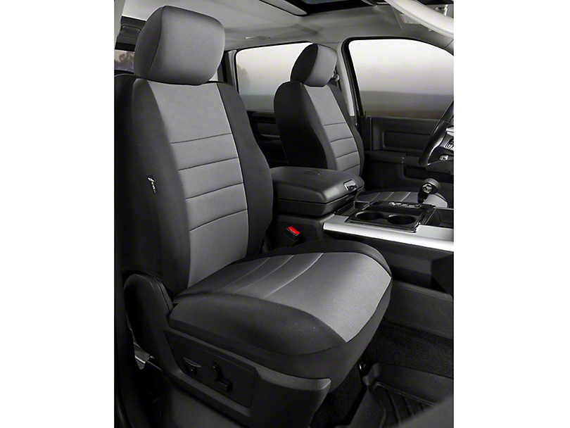 Fia Custom Fit Neoprene Front Seat Covers - Gray (07-13 Silverado 1500 w/ Bucket Seats)