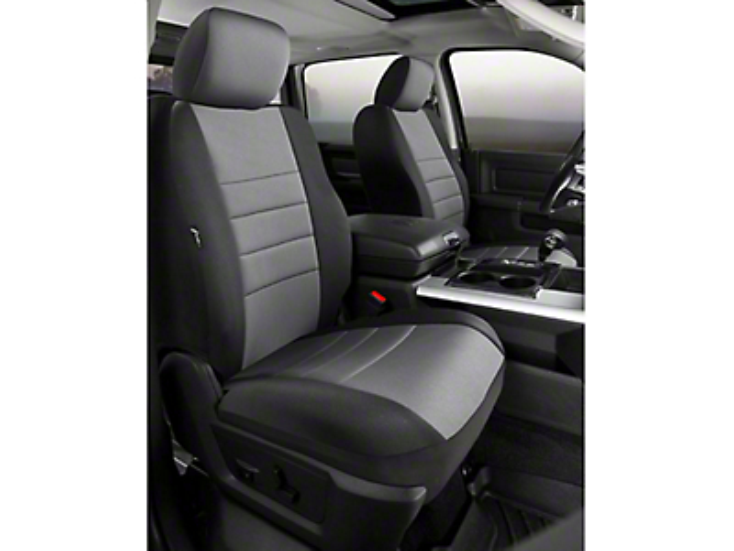 Fia Custom Fit Neoprene Front Seat Covers - Gray (07-13 Silverado 1500 w/ Bucket Seats)