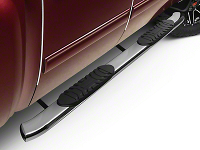 Barricade 5 in. Oval Bent Rocker Mount Side Step Bars - Polished Stainless (07-13 Silverado 1500)