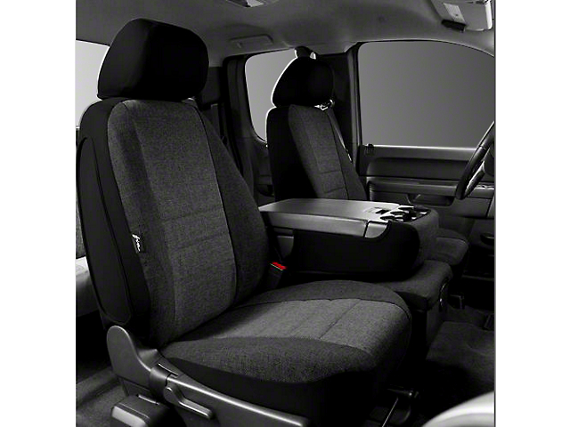 Fia Custom Fit Tweed Front Seat Covers - Charcoal (07-13 Silverado 1500 w/ Bench Seat)