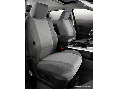 Fia Custom Fit Tweed Front Seat Covers - Gray (07-13 Silverado 1500 w/ Bucket Seats)