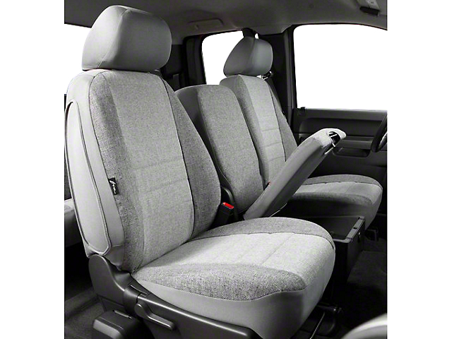 Fia Custom Fit Tweed Front Seat Covers - Gray (07-13 Silverado 1500 w/ Bench Seat)