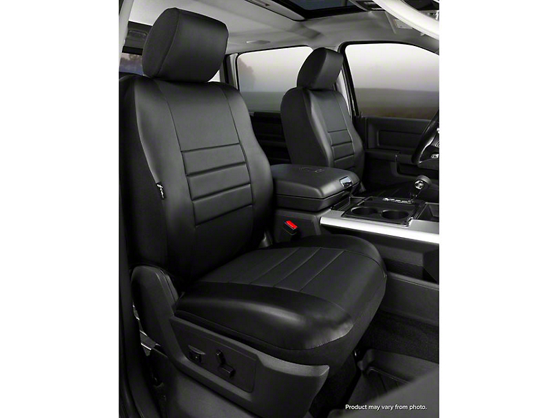 Fia Custom Fit Leatherlite Front Seat Covers - Black (07-13 Silverado 1500 w/ Bucket Seats)