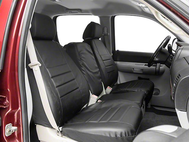 Fia Custom Fit Leatherlite Front Seat Covers - Black (07-13 Silverado 1500 w/ Bench Seat)