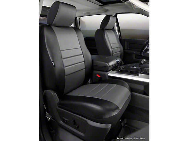 Fia Custom Fit Leatherlite Front Seat Covers - Gray (07-13 Silverado 1500 w/ Bucket Seats)
